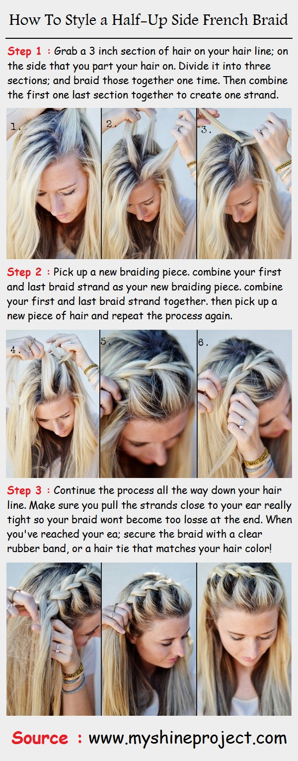 How To French Braid Hair Step By Step Instructions How To French Braid Hair  Step By