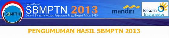 Hasil Kelulusan SBMPTN 2013