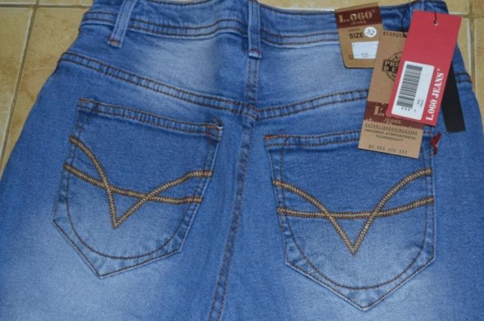 jual celana jeans logo wanita biru muda