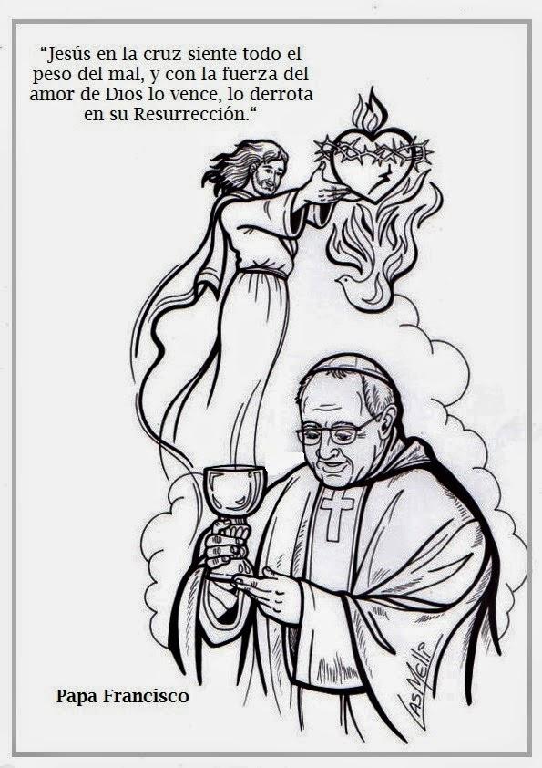 Blog Católico Navideño ®: IMÁGENES DEL PAPA FRANCISCO PARA COLOREAR