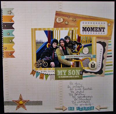 Sandi Pressley_Be Fierce_Banners Scrapbook