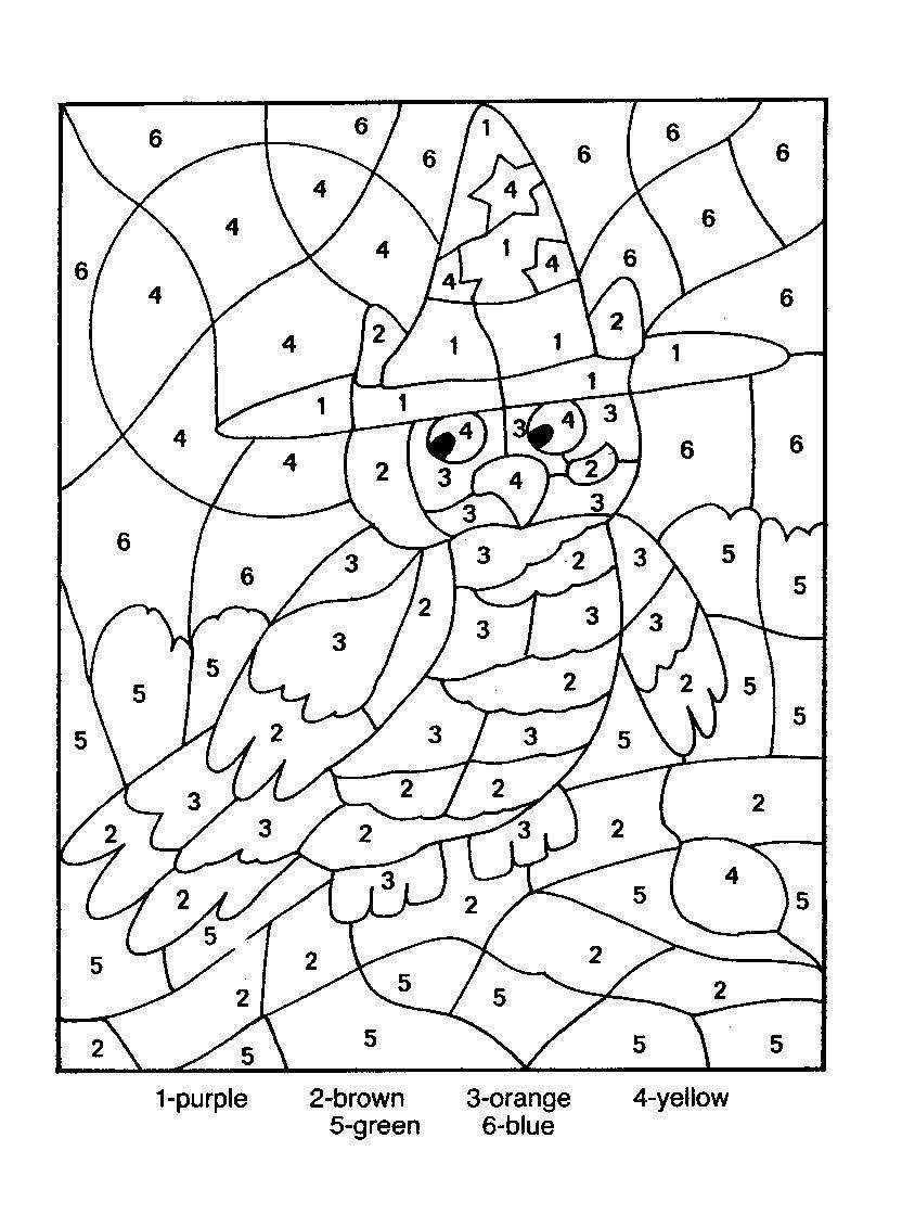 colouring in numbers : Colouring Activities With Numbers Numbers Coloring Pictures For Kids