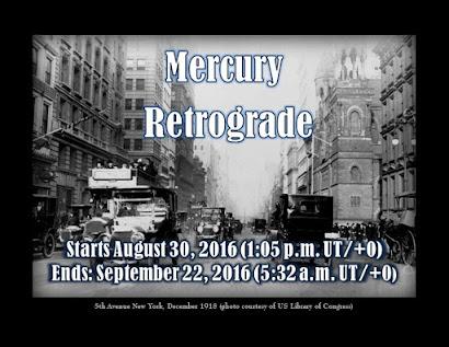 Mercury Retrograde Notice