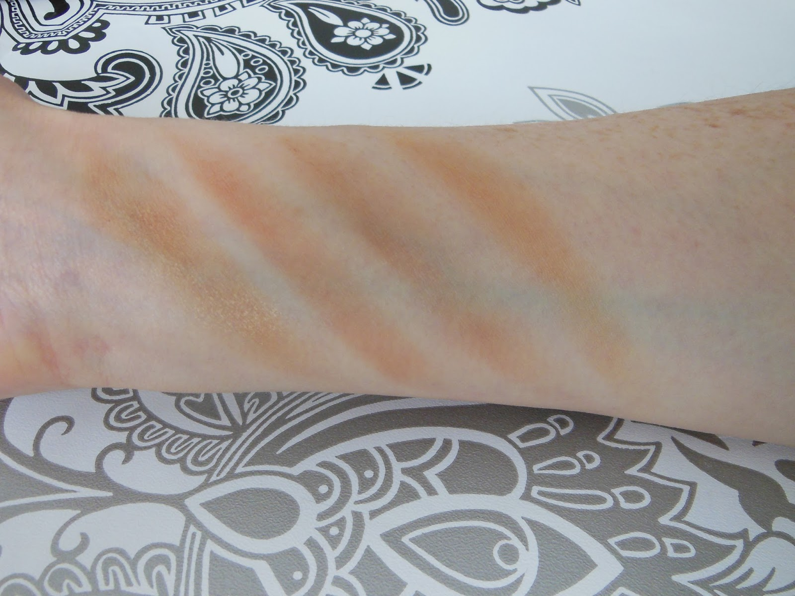 good bronzers for pale skin - swatches