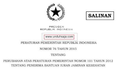 PP Nomor 76 Tahun 2015