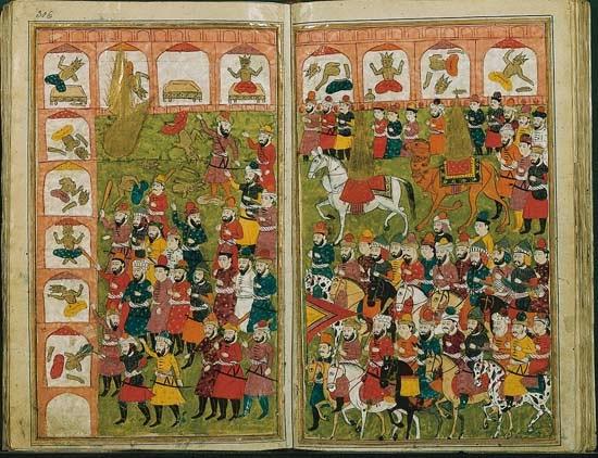 Mahomet et les quatre premiers califes
