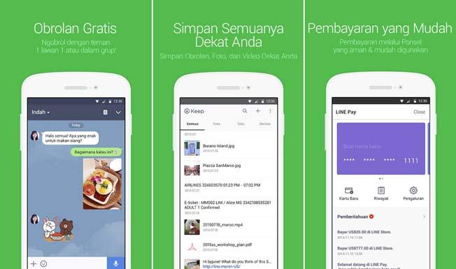 Download LINE untuk Android, Buat Chatingmu Semakin Seru