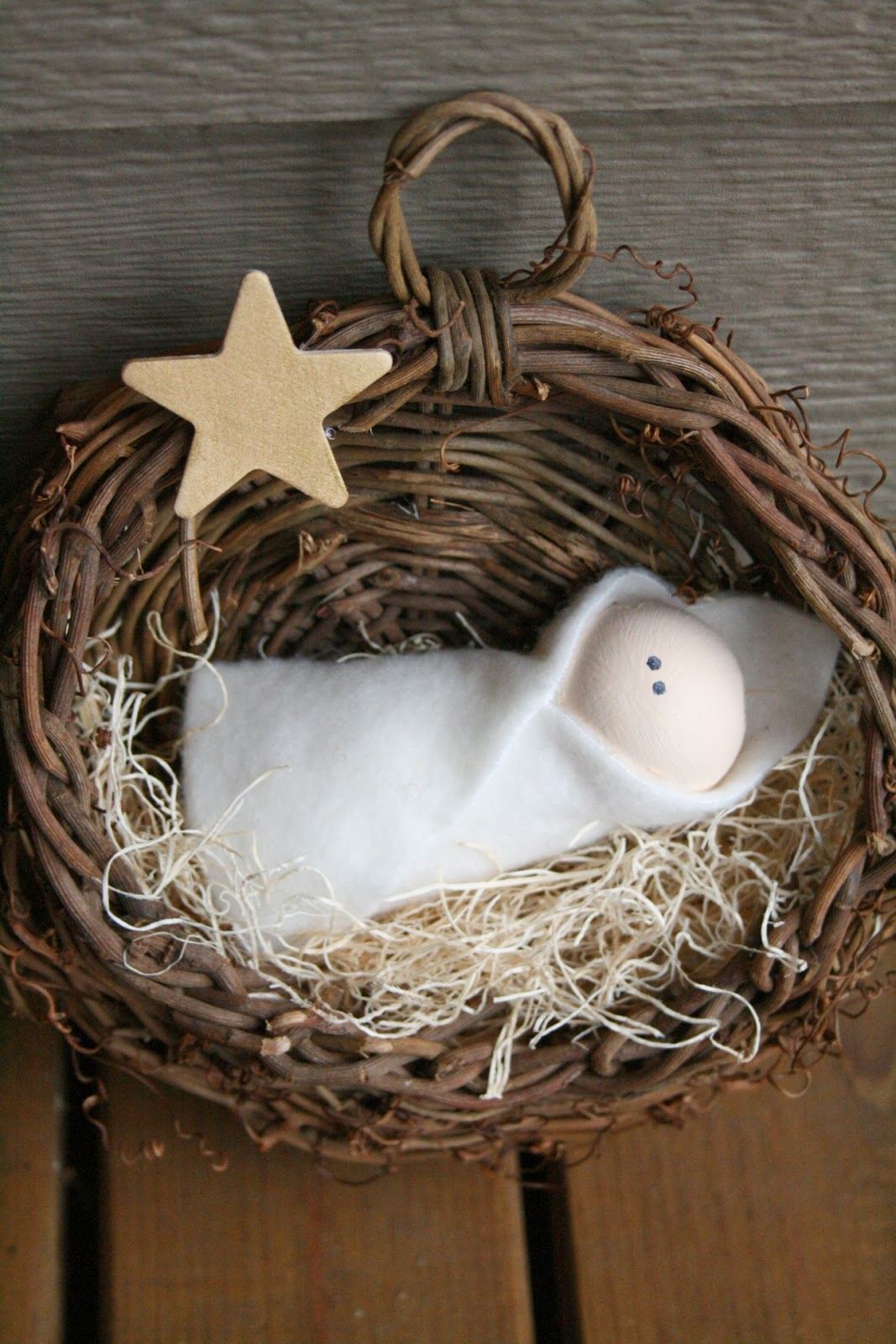 diy baby jesus nativity christmas decoration