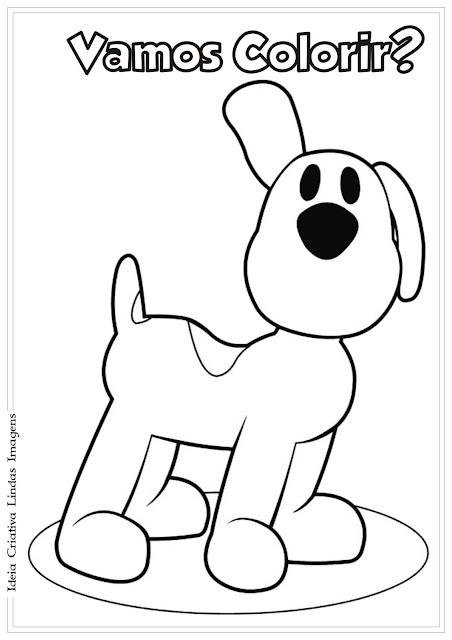 Cachorrinha do Pocoyo - Loula para colorir