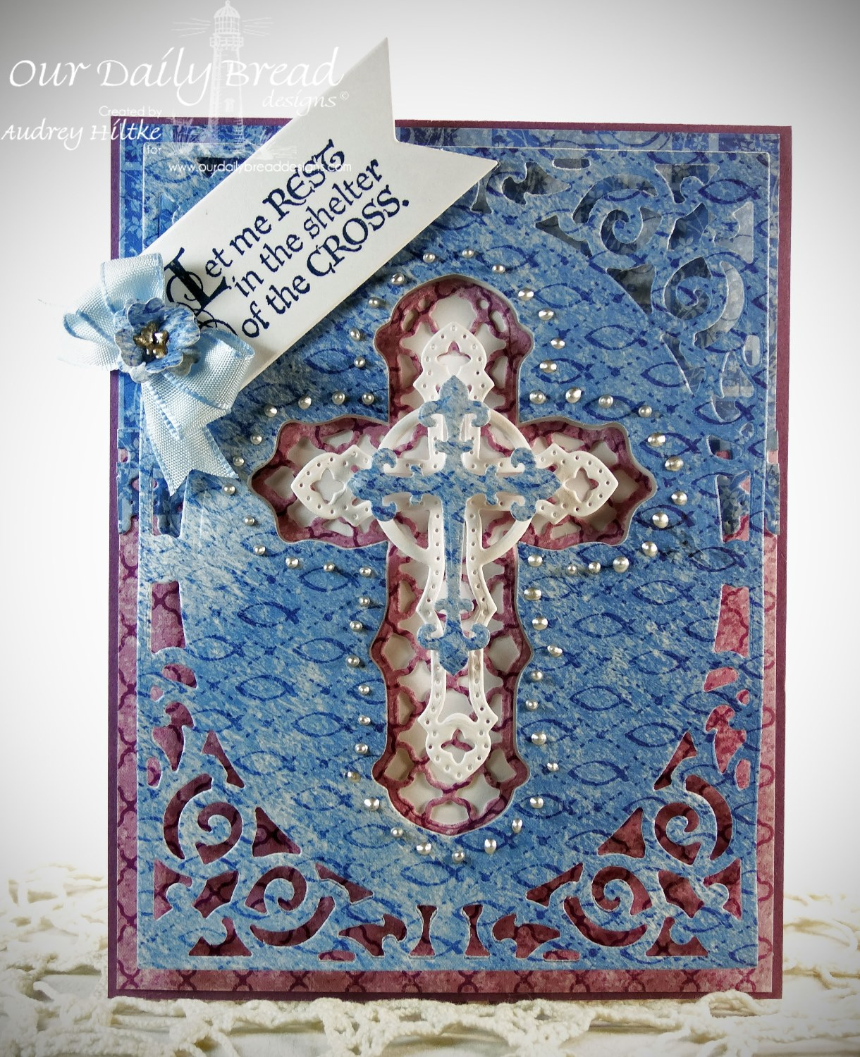 Stamps - Our Daily Bread Designs The Cross, ODBD Custom Ornamental Crosses Die, ODBD Christian Faith Paper Collection