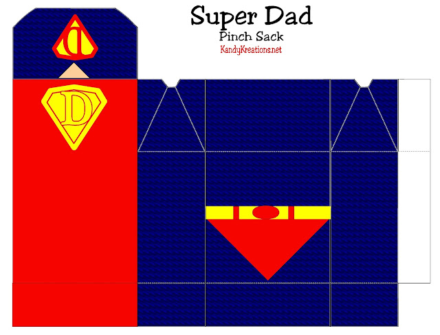 Super Dad Pinch box for Father day. Celebrate dad this Father's day with a box filled with his favorite treats letting him know he's a Super Dad.  This free printable is perfect for a party favor for your Father's Day dinner or party.