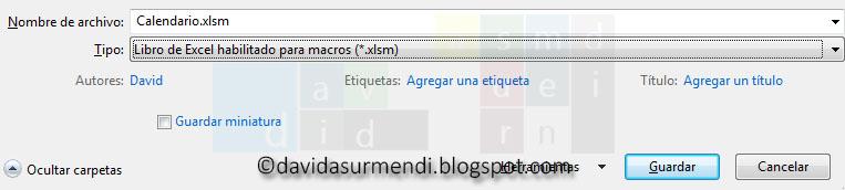 Libro de Excel habilitado para Macros