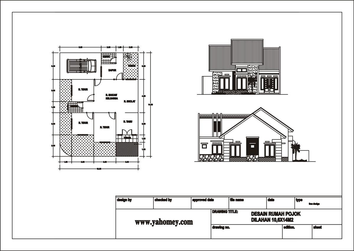 denah rumah minimalis pojok home design life styles