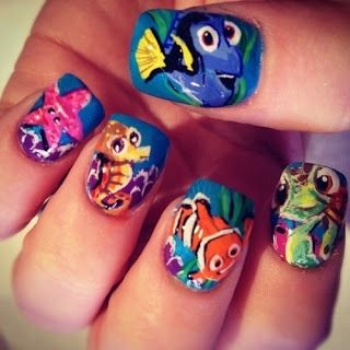 Disney Nail Art Designs