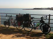 We packed up and (hours later) left for Wakayama, our bikes even heavier .