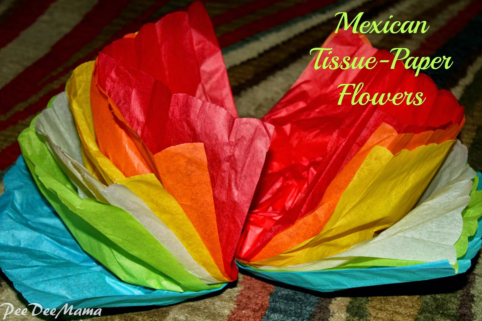 Tales of a pee dee mama mexican tissue paper flowers mexican tissue paper flowers mightylinksfo