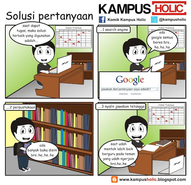 #147 komik mahasiswa mencari Solusi pertanyaan