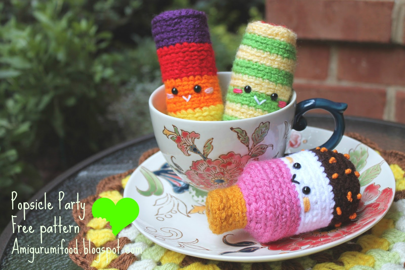Amigurumi Food: Party Popsicle Free Pattern!
