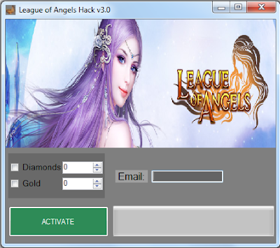 League of Angels (Diamonds And Gold) Hack 2014