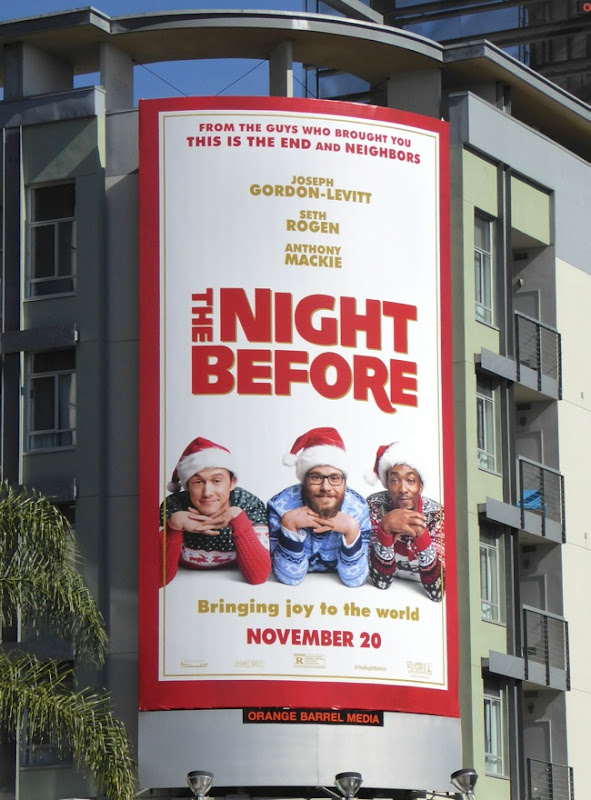 The Night Before film billboard