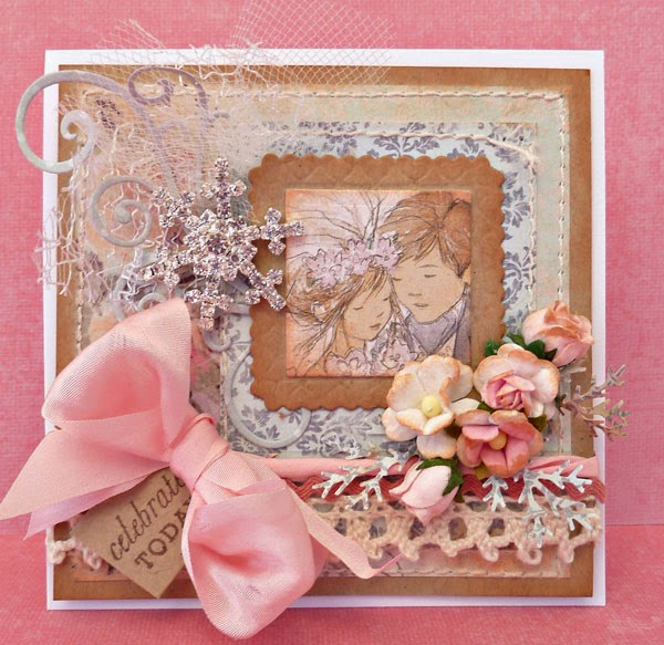 Playing With Ribbon A Mini Vinage Style Winter Wedding Card And Box Set