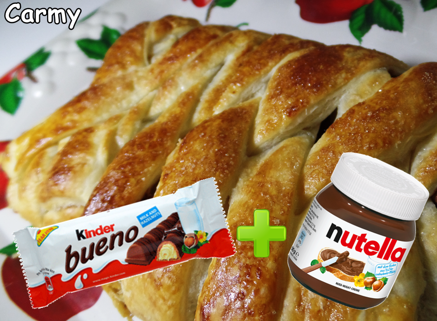 Favoloso Ricetta treccia con kinder bueno e nutella, con video UU09