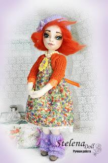 авторская текстильная кукла Ася-рыжее солнышко
