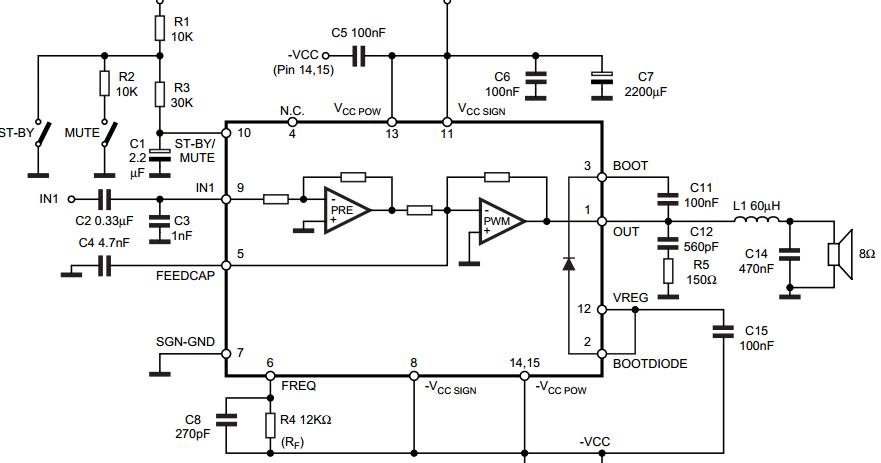 18w Mono Class D Amplifier