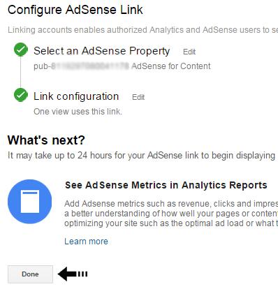 AdSense link
