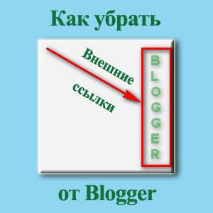ссылки от Blogger