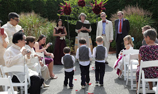 Many smiles greeted Jeff's grandsons, the ring bearers!