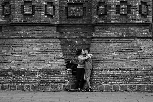 Beso en la calle