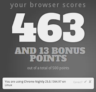google chrome 25 html5 test