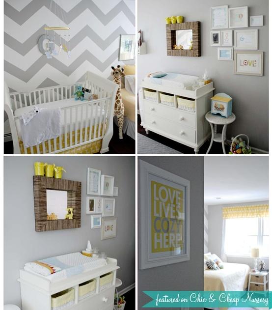 grey chevron baby room