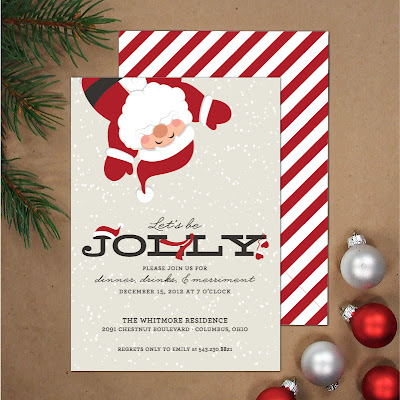santa, holiday party, party invitation, santa party