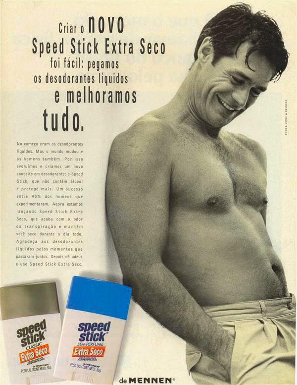 Propaganda do desodorante Speed Stick em 1994. Lançamento do produto no Brasil.