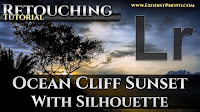Ocean Cliff Sunset With Silhouette   Lightroom CC Retouching Tutorial