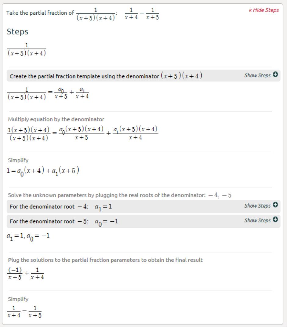 math worksheet : partial fractions calculator  symbolab : Partial Fractions Worksheet