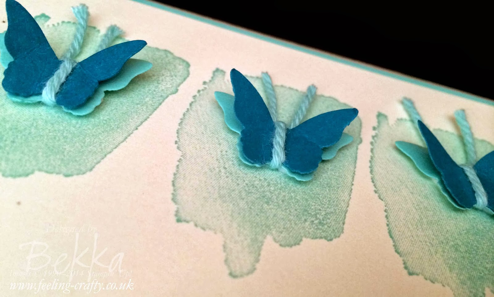Happy Watercolor Butterfly Birthday Card - with instructions!  Check out this blog