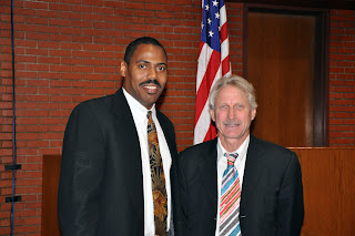 Drs. Shaun L. Gabbidon (l) and James D. Unnever co-authored A Theory on African-American Offending: Race, Racism, and Crime