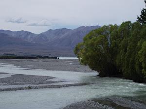 Río de glaciar Nueva Zelanda