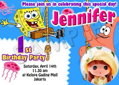 Model kartu undangan ulang tahun anak