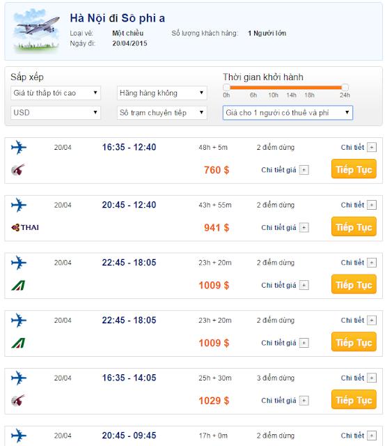 Vé máy bay đi Sofia giá rẻ 2015_2