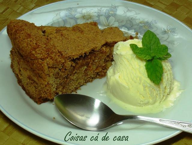 Torta de maçã e canela