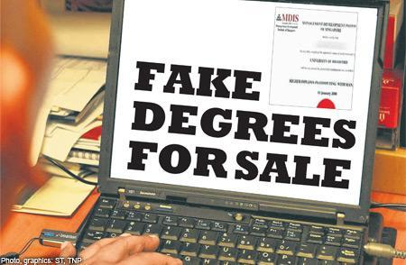 the online advertisements offering fake certificates from private education institutions peis in singapore scream with promises