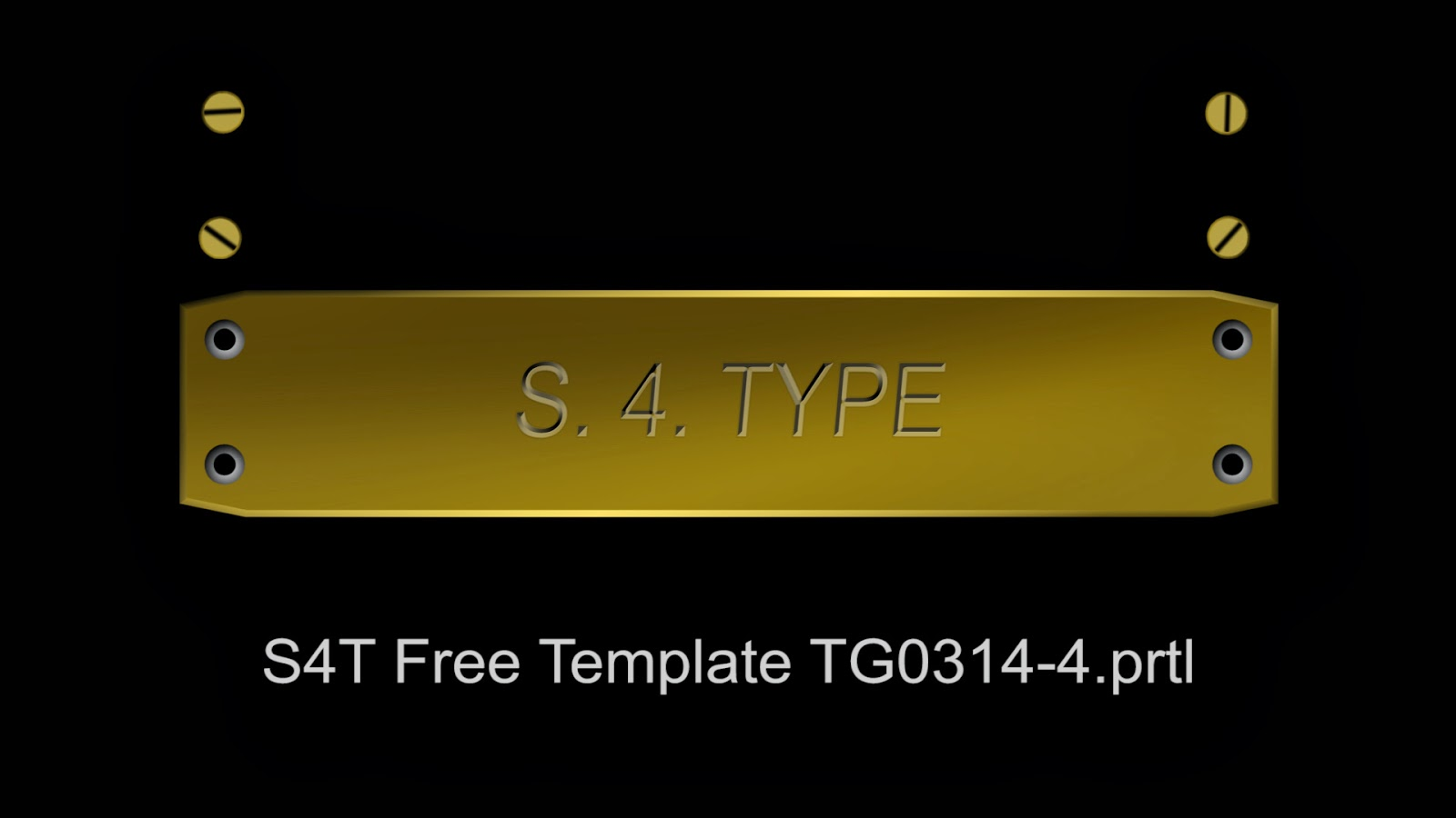Style4type free s4t premiere pro title template engraved brass plate for Premiere pro title templates free