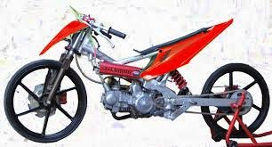 Modifikasi Motor Drag Honda Revo