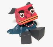 Cute Shishimai Papercraft Toys