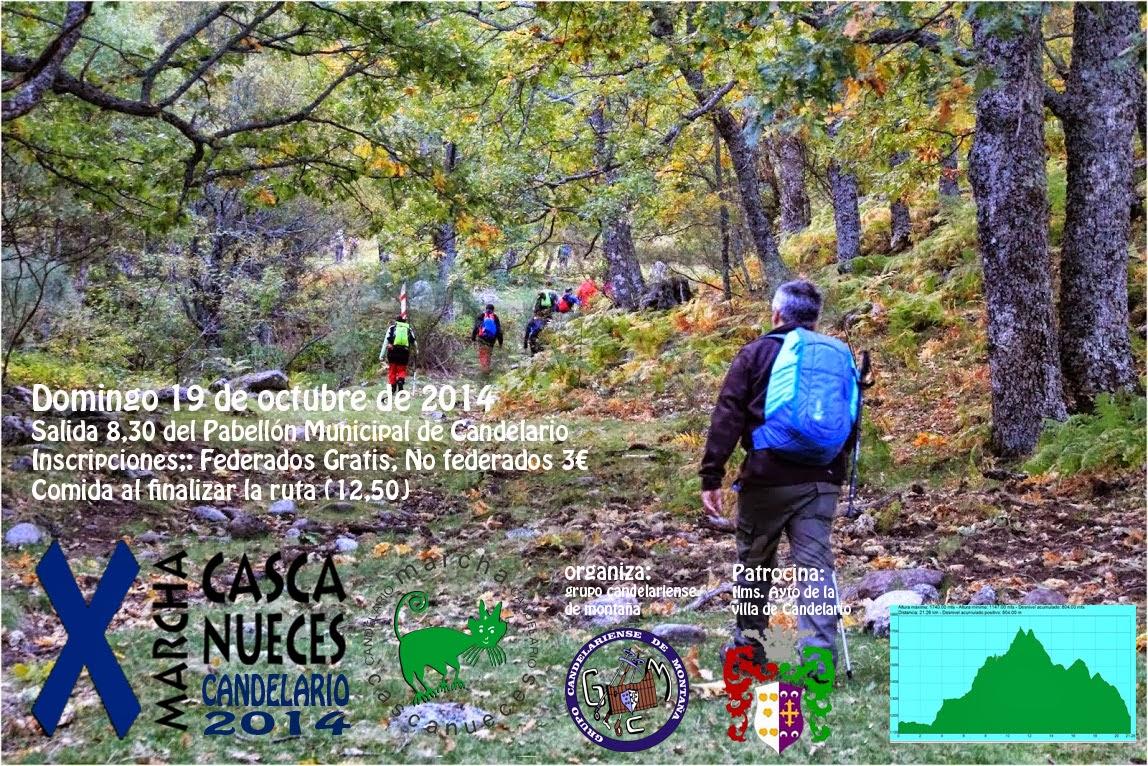 X Marcha Cascanueces Candelario 19 de octubre de 2014