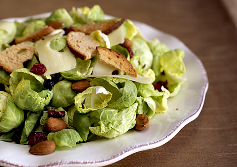 Brussels Sprout Salad ~ Heat Oven to 350